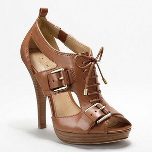 Coach Sofia Leather Open Toe Heels